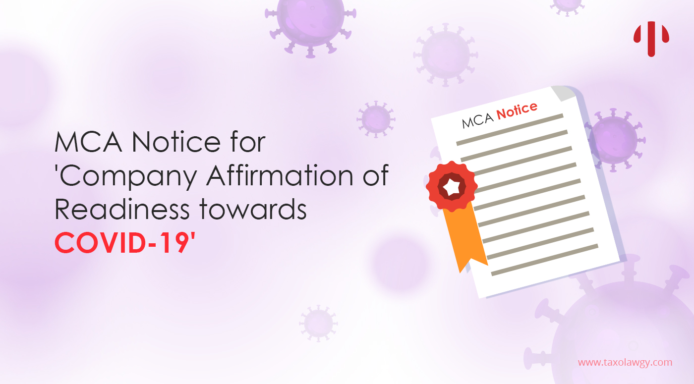 MCA Notification for COVID 19